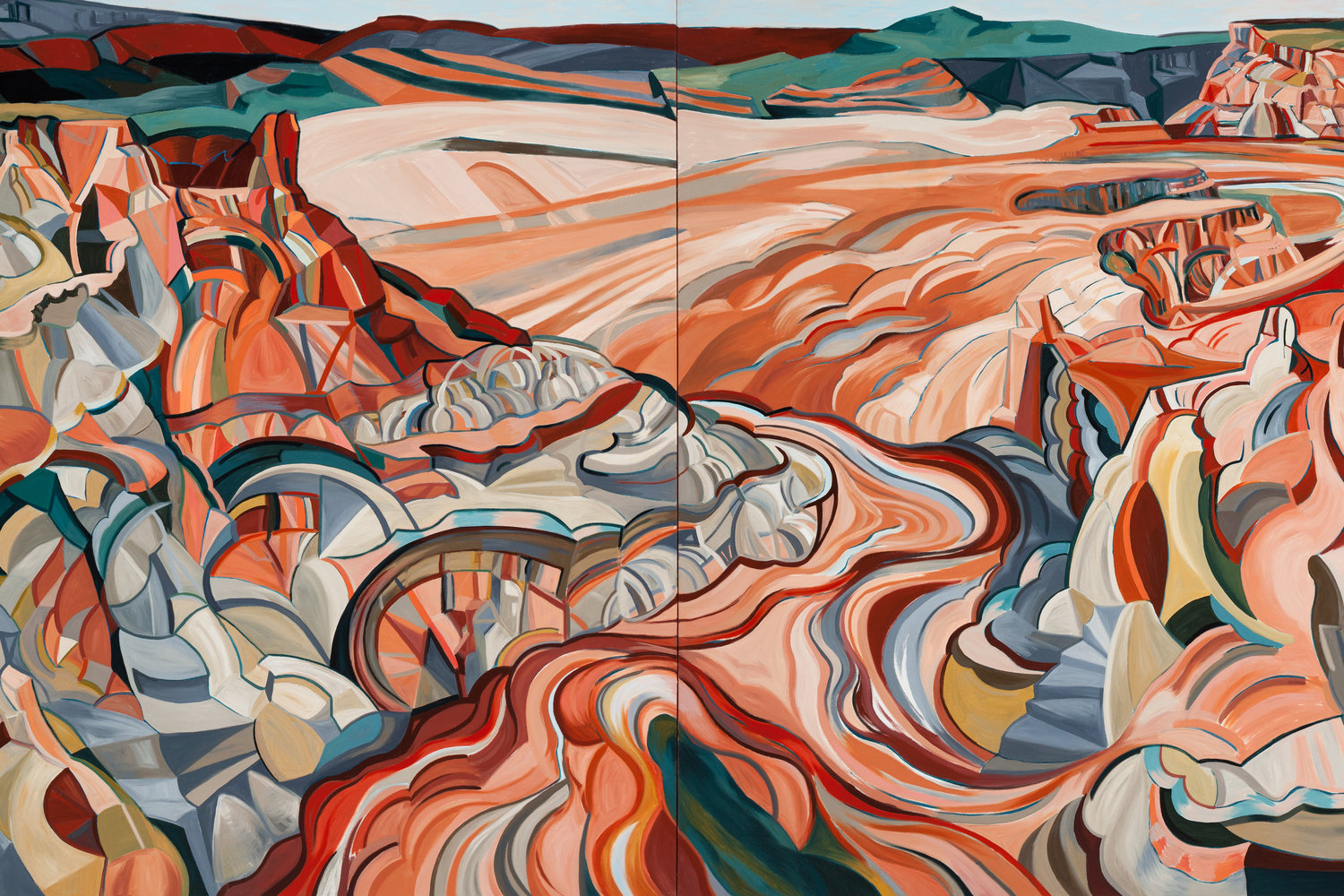 Sangeeta_Reddy_Overlooking_Canyon_Lands_2014_oil_on_canvas_dyptich_60x120in.jpg