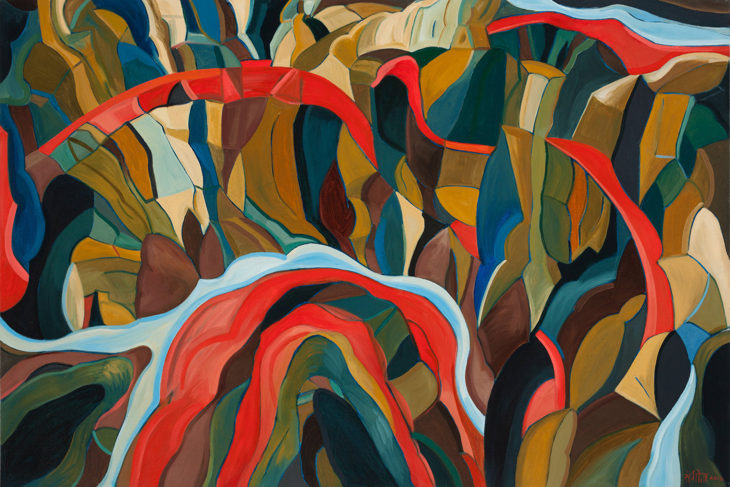 Sangeeta_Reddy_Red_Canyon__River_Sky_2012_oil_on_canvas_28x43in.jpg