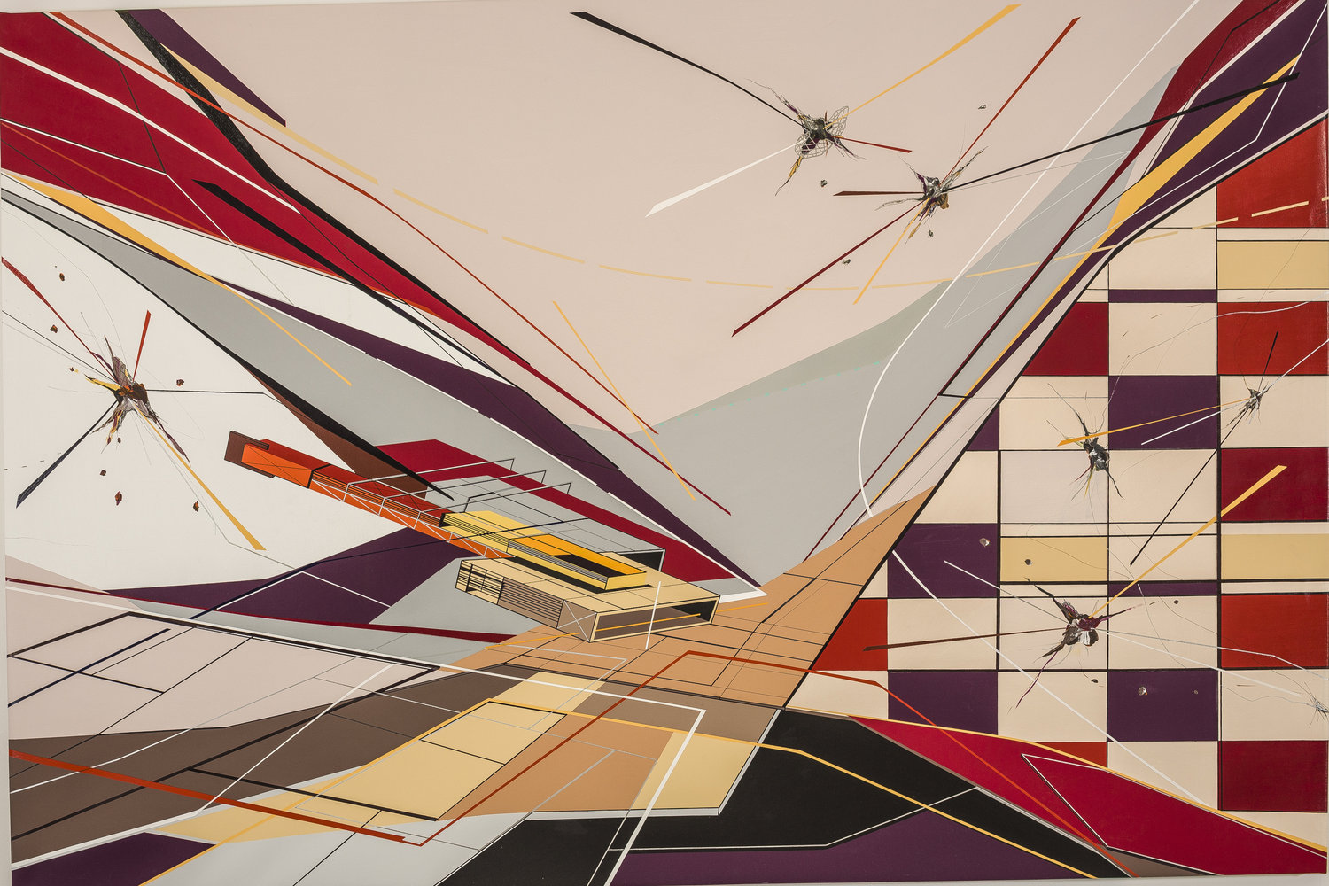 Auction Preview: Anibal Catalan, Morphological zone (Supremat III), acrylic on canvas, 47 x 70 inches