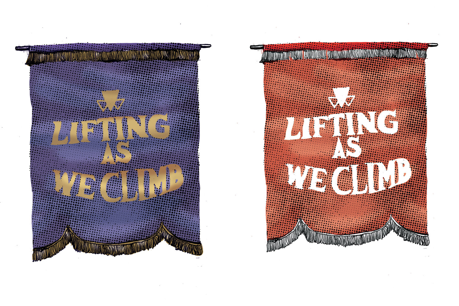 Candice Davis, Lifting As We Climb (detail), 2020, textile reproductions