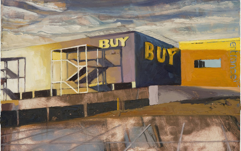 Sharon Feder, study for _BUY_, 2014