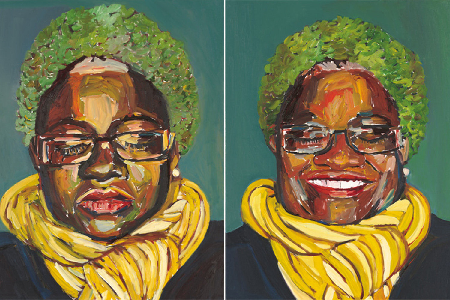 Beverly McIver, _I look like my mother_ (Diptych), 2008