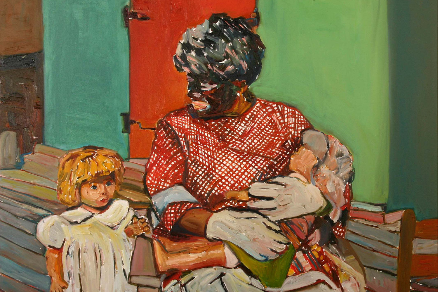 Beverly McIver, _Mammy with Children_, 2002