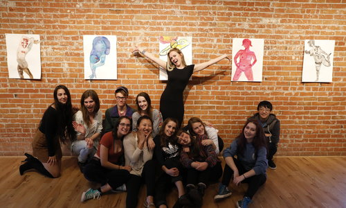 Header studio project interns with artist in residence erica day
